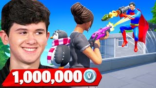 Bugha vs My Little Brother 1v1 for 1,000,000 VBucks! - Fortnite