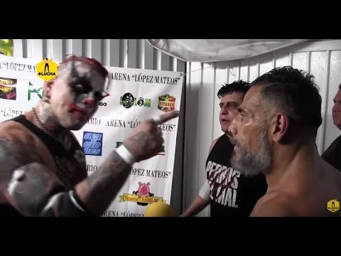 Pagano encaró y retó a Rey Wagner, en backstage de Arena López Mateos
