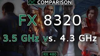 RX 480 | FX-8320 Overclocked vs. Non-Overclocked (5 Games) (3.5GHz vs. 4.3GHz) (1080p60FPS)
