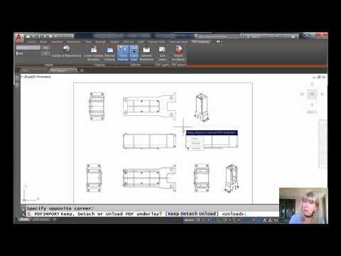 AutoCAD Video Tips: Convert PDF Underlays to AutoCAD Objects (Lynn Allen/Cadalyst Magazine)