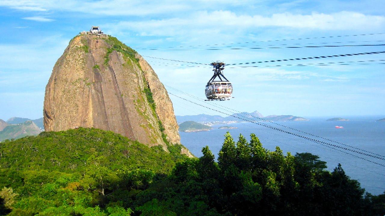 Corcovado Mountain In Central Rio De Janeiro Brazil