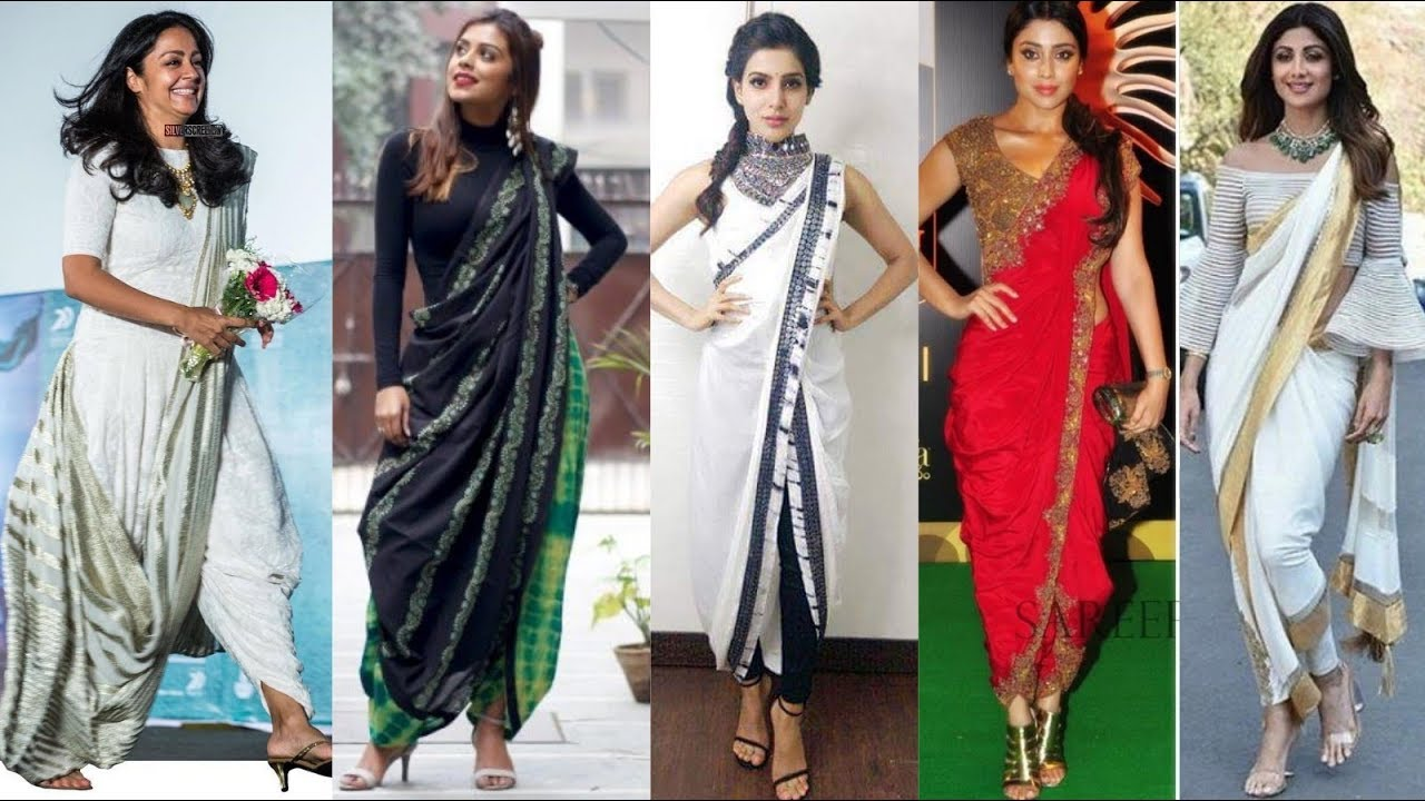 Top 30 Indo Western Sarees Dhoti Saree Designs Dhoti Saree For Wedding Guest Engagement Reception Youtube,Flat Wedding Dress Sandals