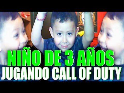 NIÑO DE 3 AÑOS JUEGA CALL OF DUTY!! INCREÍBLE! - BEBE JUGANDO CALL OF DUTY! - Gameplay Black Ops 3!