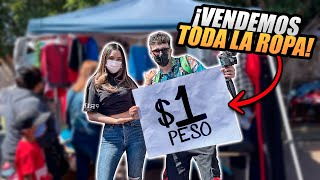 COMPRO TODO UN PUESTO DEL TIANGUIS Y VENDEMOS TODO A $1 PESO *mira lo qué pasó*
