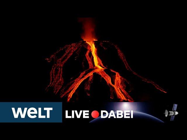 ERDBEBEN ERSCHÜTTERN LA PALMA: Vulkan in den Cumbre Vieja unvermindert stark aktiv   WELT Live dabei