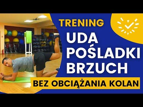 Ćwiczenia na Uda, Pośladki i Brzuch - bez obciążania kolan, bez skakania - dla początkujących