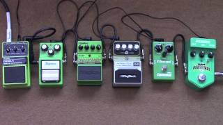 Which Is The Best Green Overdrive Pedal? Tube Screamer, Nobels, Digitech Shootout