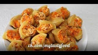 Рецепт Фаршированные макароны в мультиварке фарш с макаронами
