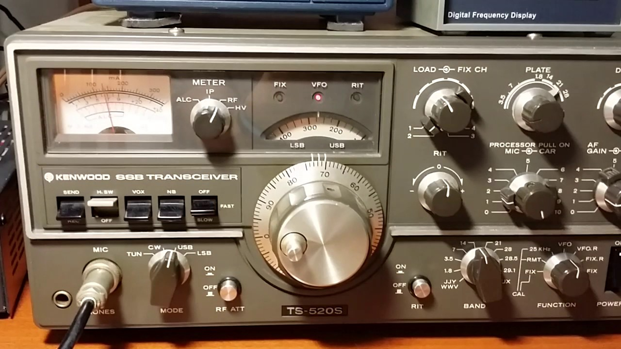 KENWOOD TS-520S VFO-520S Digital frequency didplay