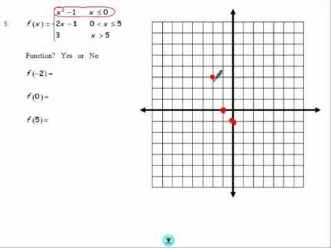 WORKSHEET 1.8 HOMEWORK PIECEWISE FUNCTIONS