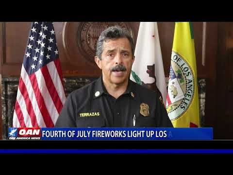 Fourth of July fireworks light up Los Angeles skies despite