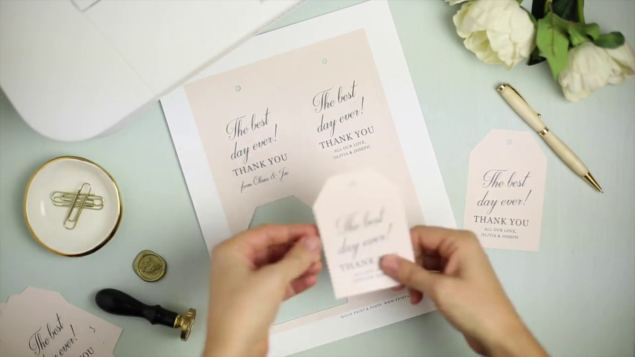 How To Make Wedding Favor Hang Tags