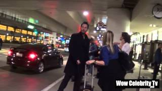 Keanu reeves arrives to LAX Airport