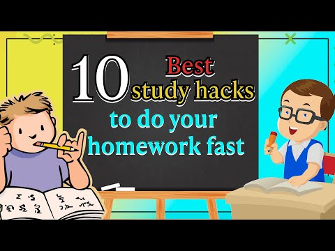 10 BEST STUDY HACKS TO COMPLETE YOUR HOMEWORK FAST| #Abetterlife