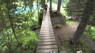 Morzine Downhill Mountain Biking 2013 (Crash) - GoPro Headcam
