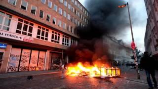 【衝撃映像】ドイツ・ハンブルクでG20サミットの抗議デモ 警官76人が負傷