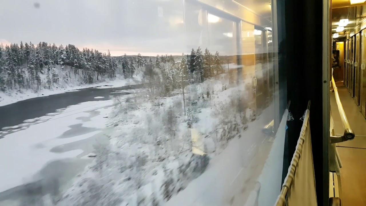 Фото с окна поезда зимой
