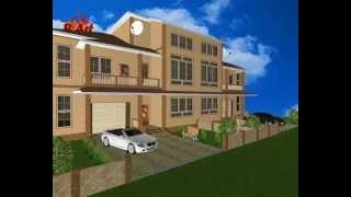 Проект загородного дома - Таунхаус на 2 семьи - LS050