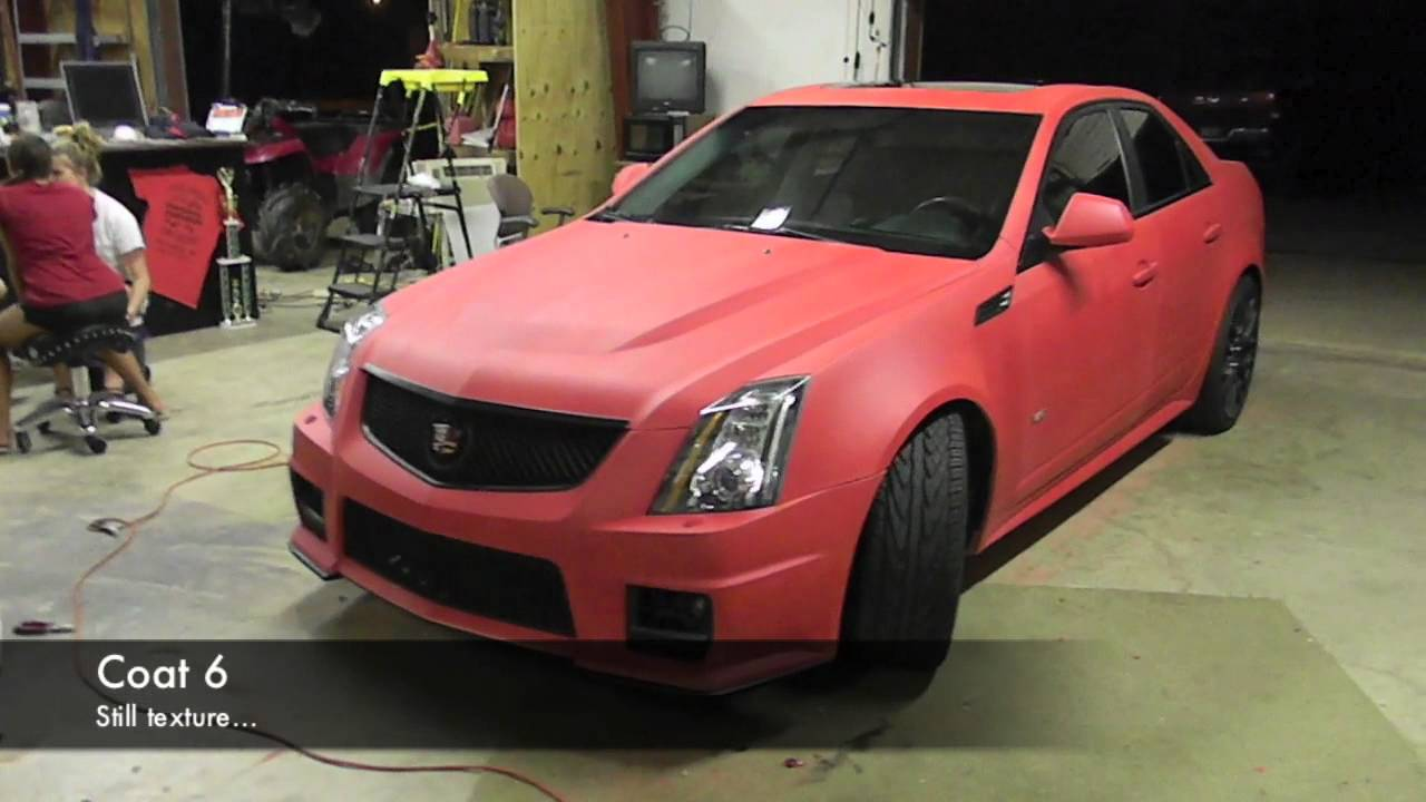 Plasti Dip Whole Car Matte Red Cadillac Cts V Youtube