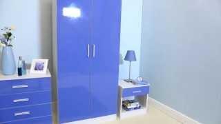 24studio - Carleton High Gloss 3-Piece Bedroom Set - Black