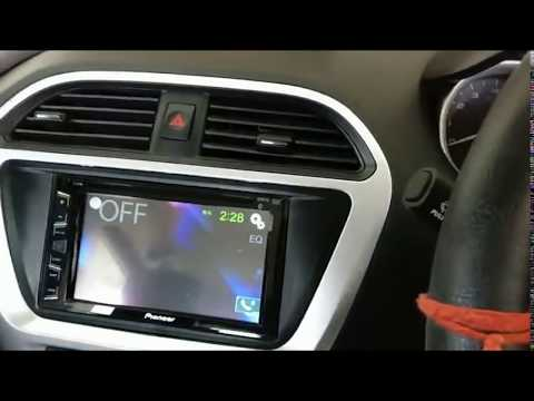Pioneer AVH 299 BT Double Din Music system installed in Tata Tiago