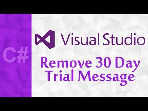 [C#] Remove 30 Day Trial Message - Visual Studio Community 2015 | Create A Microsoft Account