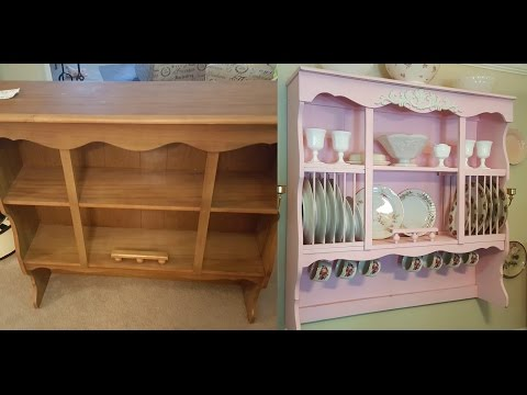 DIY Shabby Chic Wall Mounted China Cabinet / Hutch - Budget / Cheap Project