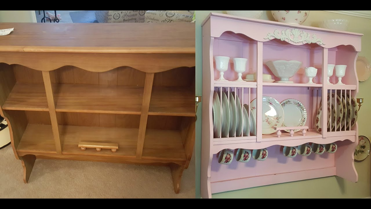 DIY Shabby Chic Wall Mounted China Cabinet  Hutch