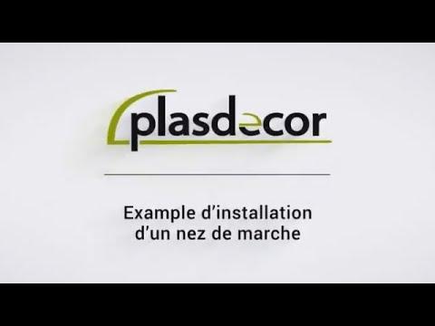 Example d'installation d'un nez de marche - PLASDECOR