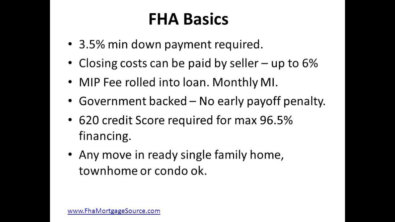 Fha Loan Requirments Florida
