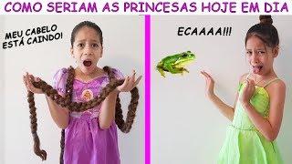 COMO SERIAM AS PRINCESAS HOJE EM DIA thumbnail