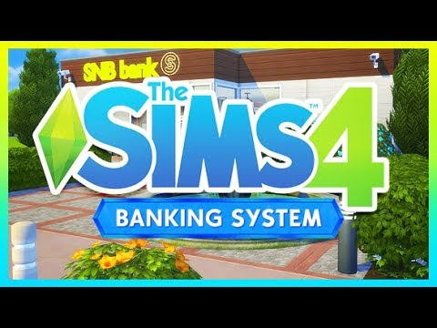 PERSONAL BANK ACCOUNT + MOBILE BANKING!?!?!  💵| THE SIMS 4 // FULLY WORKING BANK VENUE + MOD