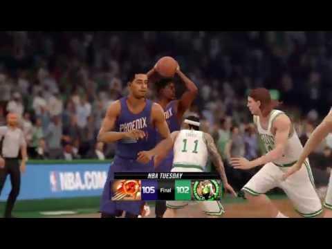NBA LIVE 16 - Phoenix Suns vs Boston Celtics - Post Game - Rising Star - HD