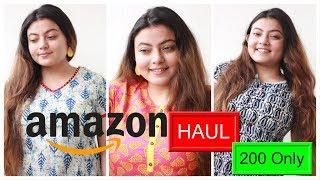 AMAZON KURTI HAUL at Rs 200   Deblina Rababi