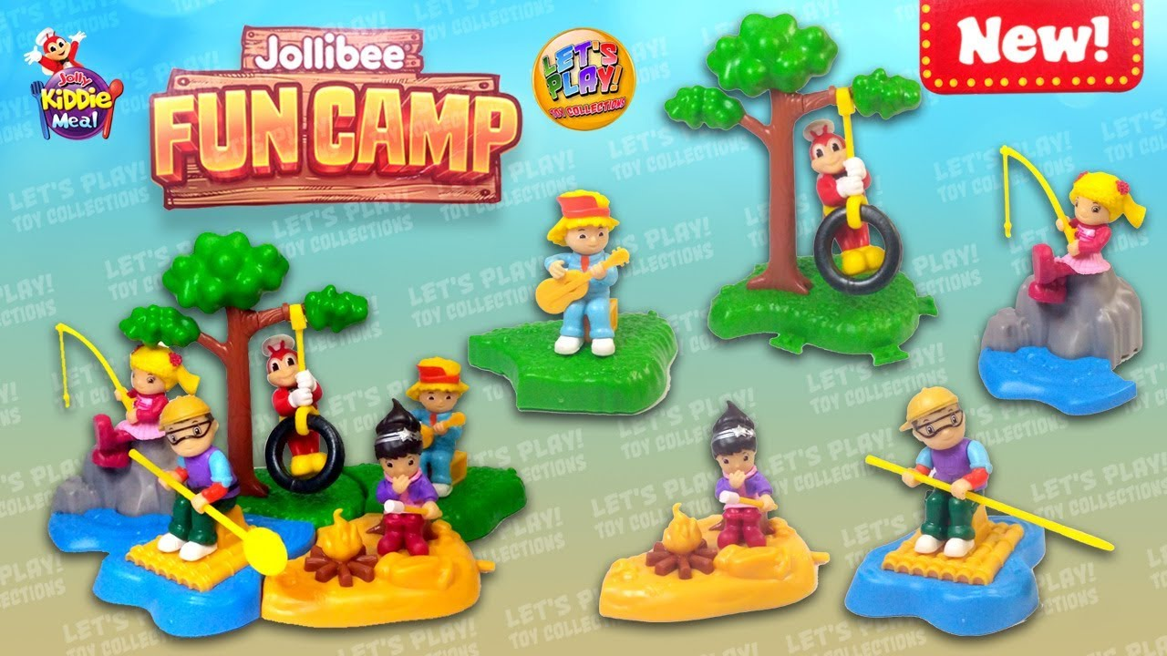 2019 Jollibee Fun Camp Jolly Kiddie Meal Toys Complete
