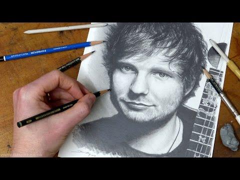 Drawing Ed Sheeran timelapse pencil portrait
