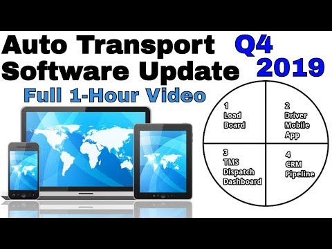 Auto Transport Software UPDATE Q4 2019: Load Boards, BOL App, TMS, CRM