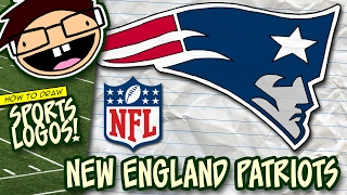 How to Draw NEW ENGLAND PATRIOTS Logo (NFL National Football League) Narrated Step-by-Step Tutorial