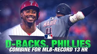 D-backs, Phillies set MLB RECORD with 13 Home Runs