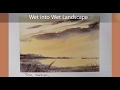 Wet into Wet watercolor landscape. Just 3 colors, 3 minutes and a large brush. Peter Sheeler