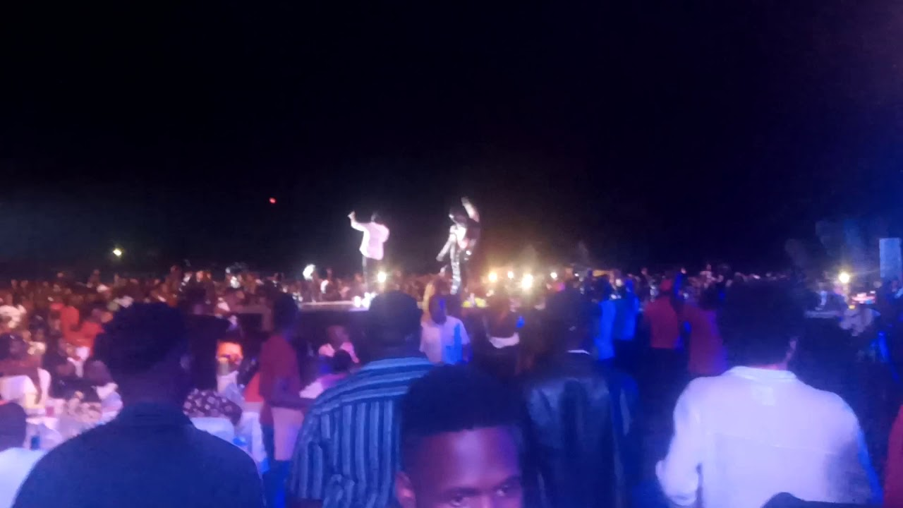 Bebe Cool  showered with bottles at Cindy's concert at Cricket oval Lugogo