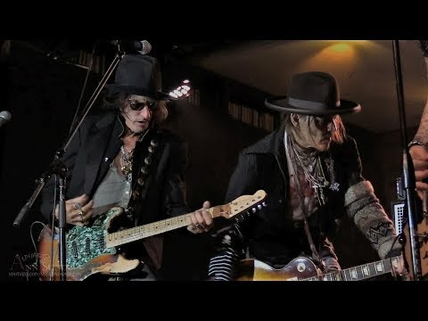 JOHNNY DEPP and JOE PERRY Lucky Strike for Soundcheck Live
