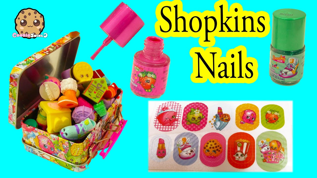 shopkins nail polish painting