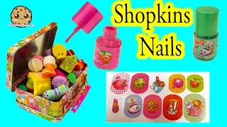 Shopkins Nail Polish Painting + Sticker Kit with Tin for your Collection - Cookieswirlc Video