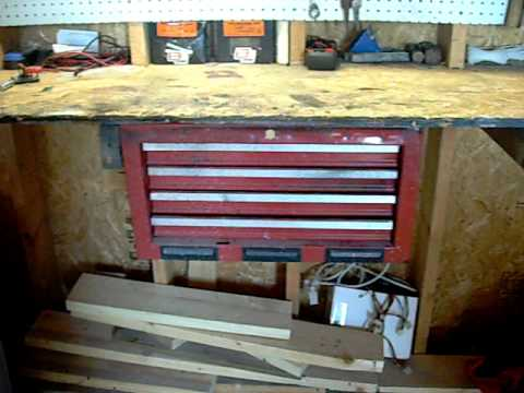 Toolbox Mounted Under Workbench Youtube