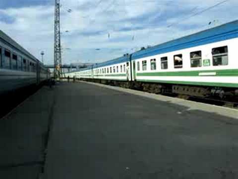 Train to Tashkent arrives at Barnaul