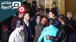 مصر العربية | محمد إمام وحمدي الميرغنى بعزاء محمود عبد العزيز