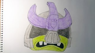 How to draw Angry Birds Transformers Galvatron
