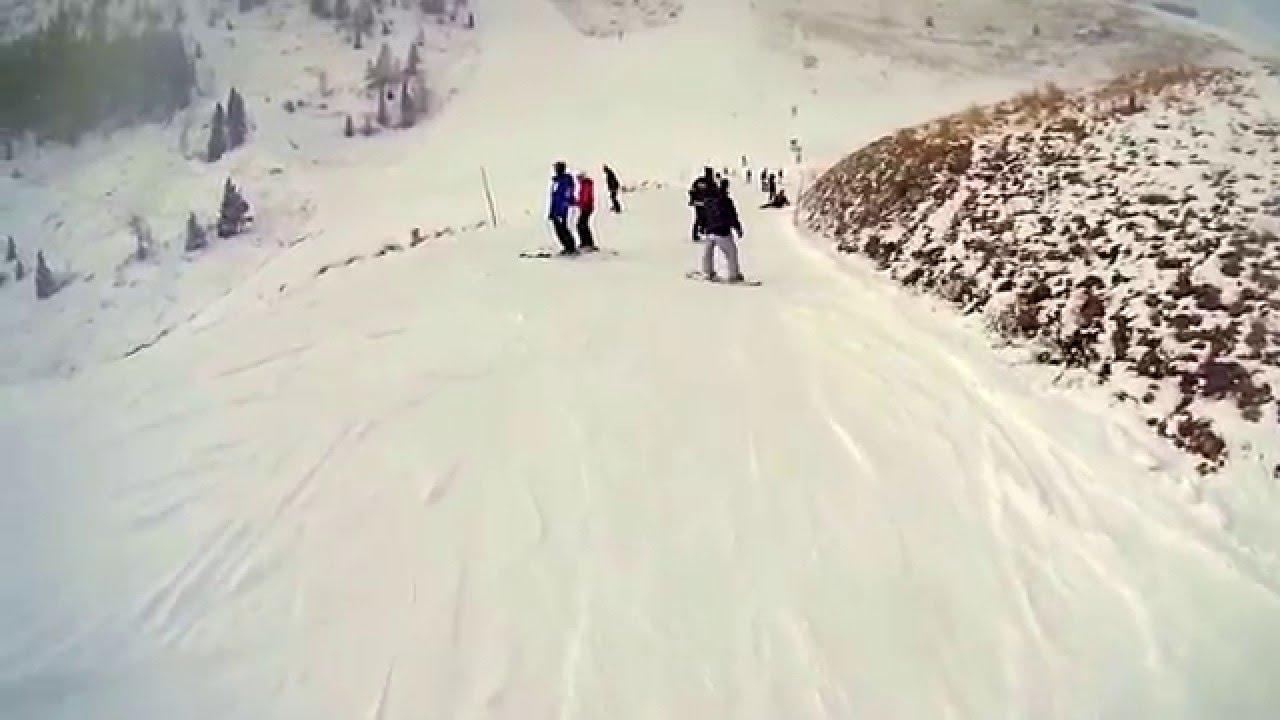 John brown skiing saas fee