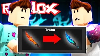 Roblox Adventures - GODLY KNIFE BET CHALLENGE! - Denis vs. Alex (Murder Mystery 2)